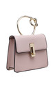 PINK FLAP OVER BAG WITH METAL KNOTTED HANDLE by BESSIE LONDON