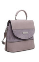 PURPLE CROC PRINT FLAP OVER BAG WITH TOP HANDLE by BESSIE LONDON