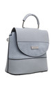 BLUE CROC PRINT FLAP OVER BAG WITH TOP HANDLE by BESSIE LONDON