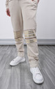 Beige Tracksuit Trousers With Studded Details by Lucy Sparks