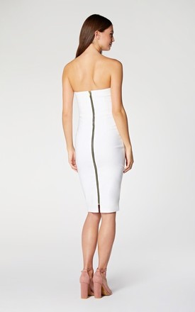 Vesper Flic Ivory Strapless Sweetheart Pencil dress. by Vesper247