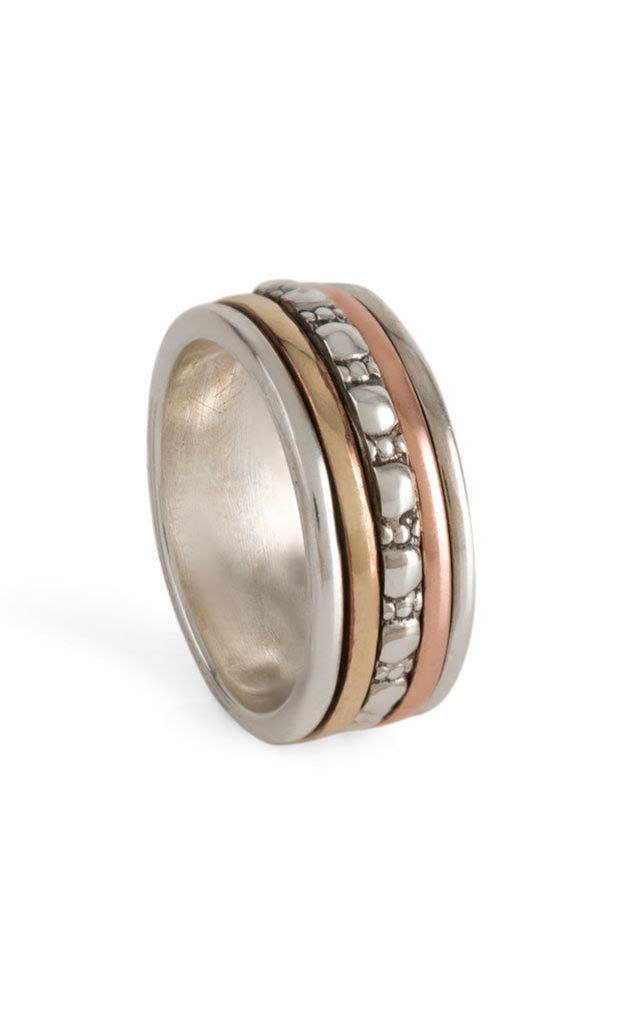 Maharani Zen Mixed Metal Spinning Ring by Charlotte's Web