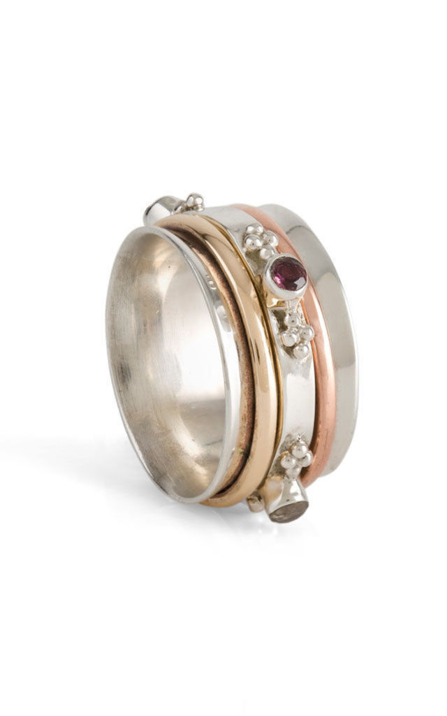 Rajput Sunset Gemstone Spinning Ring by Charlotte's Web