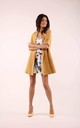Loose Coat with Short Sleeve in Yellow by By Ooh La La