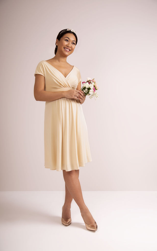 Francesca Maternity Bridesmaid Dress in Champagne by Tiffany Rose Maternity