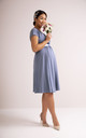 Francesca Maternity Bridesmaid Dress in Steel Blue by Tiffany Rose Maternity