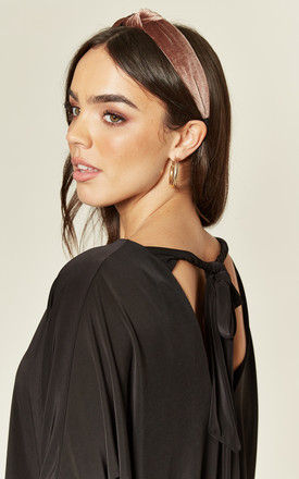 Lara Oversized Tie Back Top in Black by Pleat Boutique
