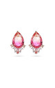 Multi Coloured Teardrop Stud Earrings by With Bling