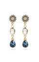 Blue Swarovski Crystal Drop Earrings by With Bling