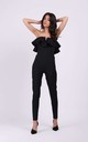 Wedding Guest Jumpsuit with Frill in Black by By Ooh La La