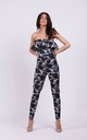 Wedding Guest Jumpsuit with Frill in Birds Print by By Ooh La La