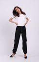 Trousers with Pockets Tied at Waist in Black by By Ooh La La