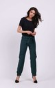 Trousers with Pockets Tied at Waist in Green by By Ooh La La