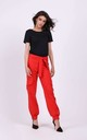 Trousers with Pockets Tied at Waist in Red by By Ooh La La