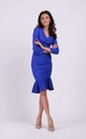 Fitted Dress Creased at Front in Blue by By Ooh La La