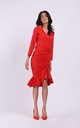 Fitted Dress Creased at Front in Red by By Ooh La La
