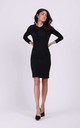 Fitted Mini Dress with Long Sleeve in Black by By Ooh La La