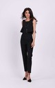 Sleeveless Jumpsuit with Layers in Black by By Ooh La La