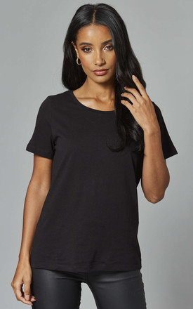 Organic Cotton Tee In Black by VILA Product photo