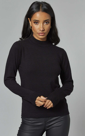 High Neck Knitted Jumper In Black by Object Product photo
