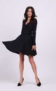 Tied Wrap Mini Dress in Black by By Ooh La La