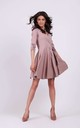 Tied Wrap Mini Dress in Cappuccino by By Ooh La La