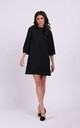 Loose Mini Dress with High Neck in Black by By Ooh La La