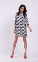 Loose Mini Dress with High Neck in Floral Pattern by By Ooh La La