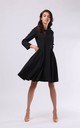 Skater Dress with Long Sleeve in Black by By Ooh La La