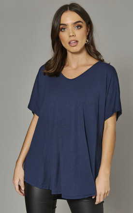 Aiyla Basic Oversized Tshirt In Navy by Blue Vanilla Product photo