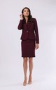Jacket Fastened with One Button in Maroon by By Ooh La La