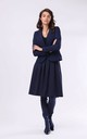 Jacket Fastened with One Button in Navy Blue by By Ooh La La