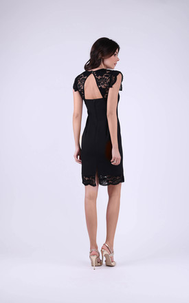 Wedding Sleeveless Mini Lace Dress in Black by Bergamo
