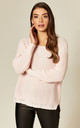 Distressed Knit Jumper in Light Pink by Suzy D