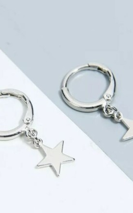 Baby Star Hoop Silver Earring by GIGILAND Product photo