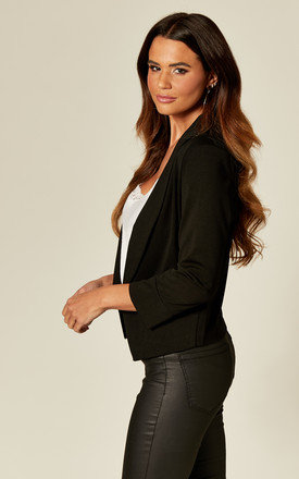 Black Fitted Tailored Blazer by Cutie London