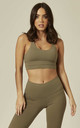 Sports Bra and Legging Sets in Khaki by Emily & Me