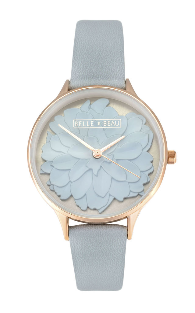 BB BLUEBELL BLOSSOM WATCH IN BLUE by Belle & Beau