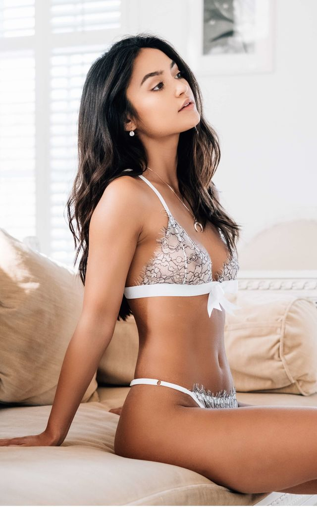 Luna Lace Bralette in White by Imogen Apparel