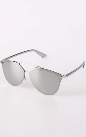 AVIATOR SUNGLASSES WITH DARK TINT in Silver grey by LOES House