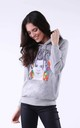 Hoodie with Girl Print in Grey by Bergamo