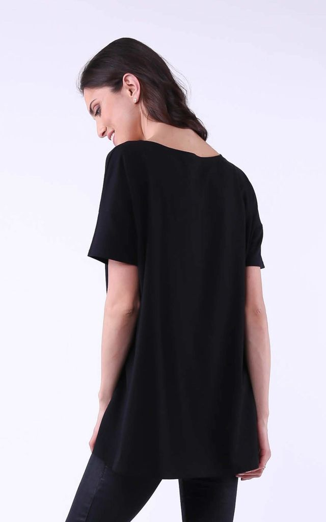 Cozy and Comfy Skull Print Tunic in Black by Bergamo