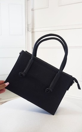 Zaz Faux Leather Handbag in Black by IKRUSH