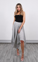 Linen Asymmetric Skirt in Grey by Lucy Sparks