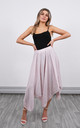 Linen Asymmetric Skirt in Soft Pink by Lucy Sparks