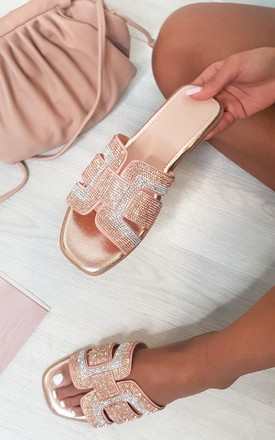 Yazie Open Toe Sandals in Champagne by IKRUSH