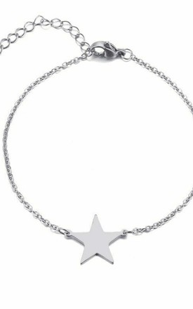 Silver Bracelet With Star Charm by GIGILAND Product photo