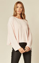 Cropped Knit Jumper in Baby Pink by Suzy D