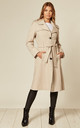 Ruby Stone Military Duster Trench Coat by De La Creme Fashions