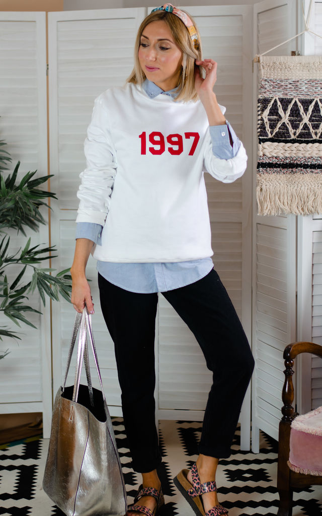 Personalised Year Sweatshirt - White by Rock On Ruby